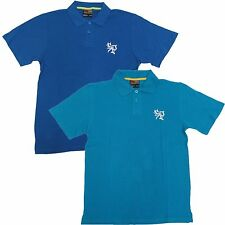 Southpole Boys size L 16-18 Solid Blue Pique Polo Shirt Short Sleeve New