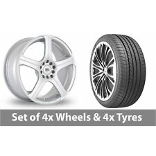 "4 x 16"" BK Racing 166 Silver Alloy Wheel Rims and Tyres -  195/40/16"