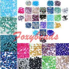 300P Faceted Crystal Glass Loose Beads Bicone Findings For Jewelry DIY Making