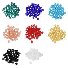 50pcs Loose Glass Crystal Bicone Spacer Beads 4mm For Jewelry Necklace Making