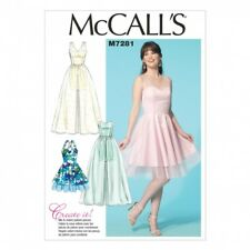 McCalls Ladies Sewing Pattern 7281 Party Dresses in 4 Styles (McCalls-7281-M)