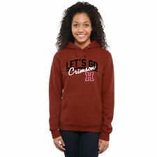 Harvard Crimson Women's Let's Go Pullover Hoodie - Crimson - College