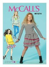 McCalls Girls Easy Sewing Pattern 7274 Top, Dress, Skirt & Leggings (McCa...