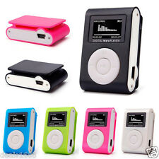 USB Clip Digital MP3 Player Mini LCD Screen Support 32GB Micro SD TF Card Radio