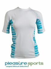Rip Curl Kai Women's Short Sleeve Rashguard 50+ UV Protection - White