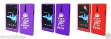 Sony Ericsson Xperia SLT26i Silicone Gel Keep Calm Stay Reem Carry On Purple Red