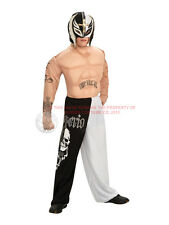 Child WWE Deluxe Rey Mysterio Fancy Dress Costume Muscled WWF Wrestling Kids BN