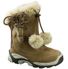 GIRLS HI-TEC THERMAL WATERPROOF BOOTS SIZE 13 - 3 SNOW WINTER HONEY VAIL LACE