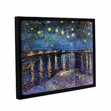 ArtWall 'Vincent VanGogh's Starry Night Over the Rhone' Gallery Wrapped Floater-