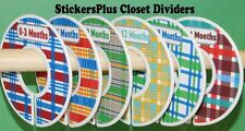 Custom Closet Size Dividers Clothes Organizer Baby Boy Colorful Madras Plaid