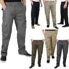 """Mens Army Cargo Combat Military Trousers Pants Plain Casual Work Waist 28"""" - 40"""""""