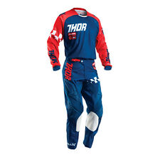 THOR Motocross trousers + Jersey 2016 Children's - Phase Ramble - navy - red