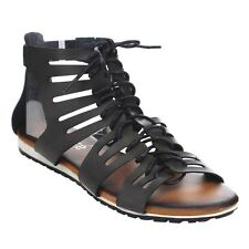 JACOBIES JULIANA-13 Women's Ankle Cuff Cut Out Flat Gladiator Sandals