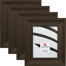 "Craig Frames 2.5"" Driftwood Black, Poplar Wood Picture Frame, 4 Piece Set"