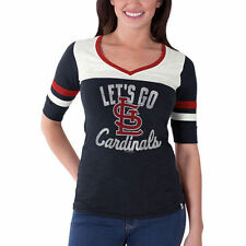 Women's '47 Navy St. Louis Cardinals Gameday Debut V-Neck T-Shirt - MLB