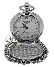 Personalised Engraved Chrome Pocket Watch Father of the Groom Wedding Favour