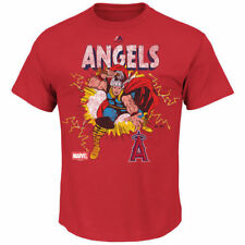 Los Angeles Angels of Anaheim Majestic Marvel Thor T-Shirt - Red - MLB