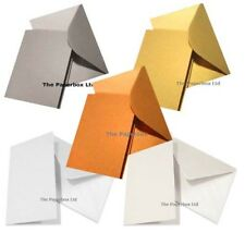 A5 Pearlescent Card Blanks & Matching Envelopes: Choose colour & pack sizes