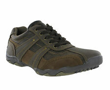 Route 21 Brown Casual Shoes Smart Lace Up Mens Trainers Shoes UK6-12