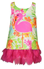 Bonnie Jean Girls Flamingo Floral Print Spring Summer Dress 12M 18M 24M New