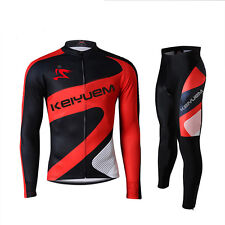 Men's Cycling Jersey Set Team Bike Wear Bicycle Clothing Long Sleeve Tops/Pants