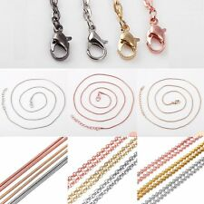 1 pc Wholesale Silver/Gold/Rose Gold Bead Chain For Women Lady Necklace Jewelry