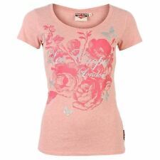 Lee Cooper Womens Glitter Logo T shirt Ladies Short Sleeve Clothing