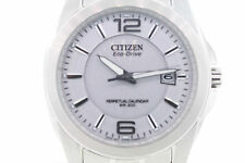 Men's Citizen BL1220-56A Eco-Drive Stainless Steel Silver Dial Watch