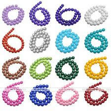 4,6,8,10mm Opaque Coated Glass Faux Pearl Round Loose Beads Charm Findings DIY