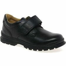 Geox William Boys Black Leather School Shoes