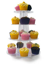 Acrylic 4 Tier Circular Cake Stands Wedding Cake Cup cakes NEW DSCS4R