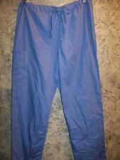Ceil blue scrub pants nurse medical dental unisex Cherokee 4100 drawstring cargo