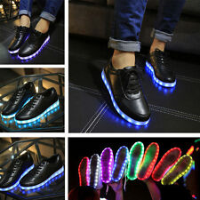 2016 NEW Unisex LED Light Lace Up Luminous Shoes Sneaker Lighted Casual Shoes