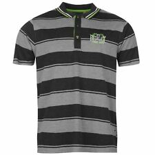 Everlast Mens Yarn Dye Bold Stripe Polo Short Sleeve Sports Casual Tee Clothing