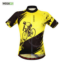 Mens Cycling outdoor sports Jersey Quick Dry Breathable Clothing Bike Size S-XXL