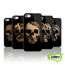 Animal Print Skull Case For Apple iPhone SE Hard Back Protective Phone Cover