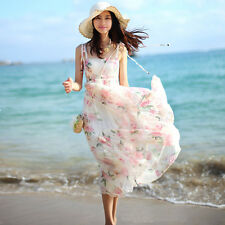 new summer Bohemia fashion elegant sexy Condole belt printing beach dress