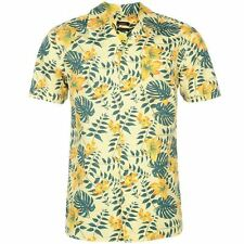 Pierre Cardin Mens Floral Shirt Short Sleeve Button Fastening Casual Clothing
