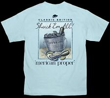 Merican Proper Shuck Em All Oysters Designed By Simply Southern Tee