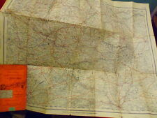 """WILTSHIRE-ANTIQUE MAP By Gall & Inglis 1/2"""" scale, railways & roads by Cruchley"""
