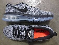 Nike WOMEN Air Flyknit Max White Black size 7 (# 620659-105) -BRAND NEW-