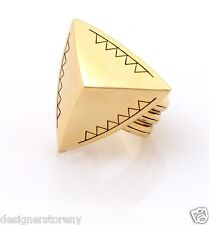 House of Harlow 1960 Nicole Richie 14kt plated faceted pyramid coctail ring