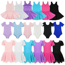Girls Gymnastics Ballet Dress Toddler Kid Leotard Tutu Skirt Dance wear Costumes