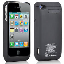 3000mAh External Backup Power Bank Battery Charger Case Cover For IPhone 4 4G 4S