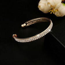 Fashion Style Crystal Rhinestone Plated Bangle Cuff Bracelet Jewelry Women New