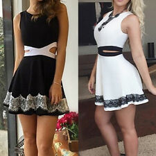 Sexy Women Bandage Bodycon Lace Party Evening Cocktail Summer Short Mini Dress E