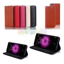 Genuine Real Leather Wallet Flip Case w/ Stand Cover For iPhone 6 6S / 6 6S Plus