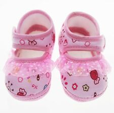 First Walkers Toddler shoes pink lace candy Cotton shoe Soft bottom baby Girl