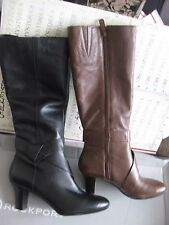 NIB $200  ROCKPORT Womens  Ordella Tall Knot  TALL BOOTS LEATHER ADIPRENE K71930
