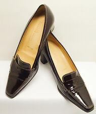 "AMALFI FOR NORDSTROM MADE IN ITALY 7 B PATENT LEATHER 2"" HEELS SHOES GREAT COND."
